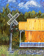 Sign Pastels Prints - Galloway Train Depot Print by Janet Hull