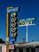 Nm Photos - Gallup NM - Vintage Motel Signs 001 by Lance Vaughn