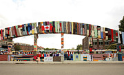 Galt Framed Prints - Galt Ontario-knit bridge-art on the street Framed Print by Nick Mares