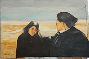 Fine Art  Of Women Paintings - Galuk with mother by Stan bert Singer