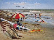 Galveston Paintings - Galveston Getaway by Stephen Williamson