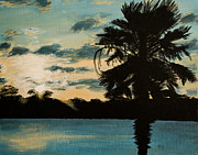 Galveston Paintings - Galveston Palmetto by Stephen Nantz