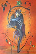 Slavic Painting Posters - Gamaun The Prophetic Bird Poster by Tracey Harrington-Simpson
