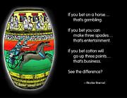 Gambling Print by Mike Flynn