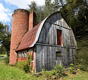 Rusted Tin Roof Photos - Gambrel-roofed Barn by Paul Mashburn