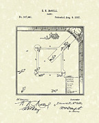 Patent Drawing Drawings Posters - Game 1887 Patent Art Poster by Prior Art Design
