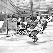 Minor Hockey Digital Art - Game Action by Elizabeth Urlacher