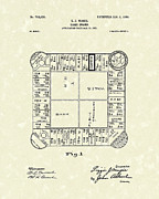 Monopoly Metal Prints - Game Board 1904 Patent Art Metal Print by Prior Art Design