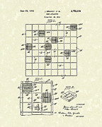 Board Game Drawings - Game Board 1956 Patent Art by Prior Art Design