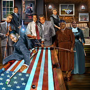 President Obama Prints - Game Changers and Table Runners P2 Print by Reggie Duffie
