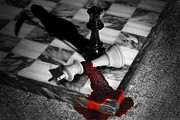 Checkmate Prints - Game - Chess - Check Mate Print by Mike Savad