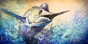Deep Sea Fishing Framed Prints - Game Fish Framed Print by Michael Lang