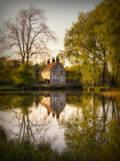 Reflection In Water Photo Prints - Game Keepers Cottage Cusworth Print by Ian Barber