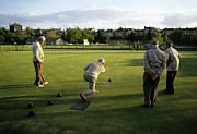 England Photos - Game of bowls Masham England 1980s by David Davies