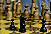 Chessmen Photos - Game of Chess by Paul Ward