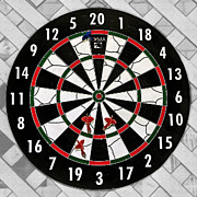 Bulls Eye Framed Prints - Game of Darts Anyone? Framed Print by Kaye Menner