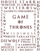 Game Seven Posters - Game Of Thrones 1 Poster by Nomad Art And  Design