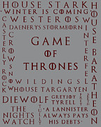 Game Seven Posters - Game Of Thrones 2 Poster by Nomad Art And  Design