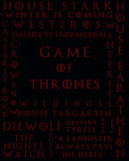 Game Of Thrones Framed Prints - Game Of Thrones 4 Framed Print by Nomad Art And  Design