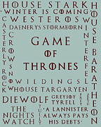 Stark Digital Art Posters - Game Of Thrones 5 Poster by Nomad Art And  Design
