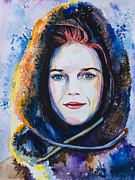 Snow Mixed Media Posters - Game of Thrones Ygritte Poster by Slaveika Aladjova