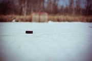 Pond Hockey Photos - Game On by CalTek Design