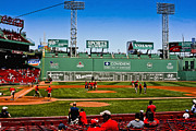 Red Sox Metal Prints - Game Preparation Metal Print by Dennis Coates