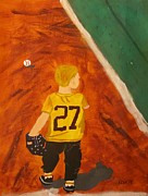 Baseball Game Paintings - Game Time by Jacob Kirk