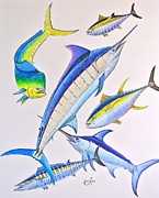 Marlin Drawings - Gamers Collage by Johnny Widmer