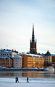 Winter Travel Framed Prints - Gamla Stan Winter Framed Print by Antony McAulay