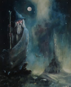 Gandalf Paintings - Gandalf Escape From Orthanc by Joe  Gilronan