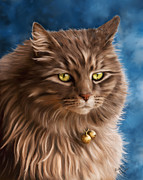 Cat Art Digital Art - Gandalf by Michelle Wrighton