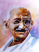 Photo  Paintings - Gandhi by Steven Ponsford