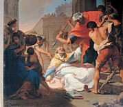 Martyrdom Prints - Gandolfi Gaetano, The Martyrdom Of St Print by Everett