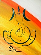 Ganesha Paintings - Ganesh Ekdhantaya by Kruti Shah