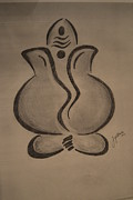 Lord Drawings - Ganesh by Jyotsna Umesh