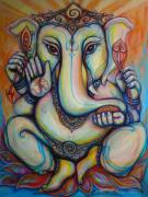 Ganesha Paintings - Ganesha by Jack No War