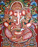 Kami A Painting Metal Prints - Ganesha Metal Print by Kami