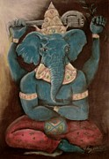 Horns Pastels - Ganesha by Michael Alvarez