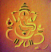 Indian Artist Prints - Ganesha Pietyz Print by Piety DSILVA