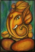 Ganapati Paintings - Ganesha by Sivaanan Balachandran