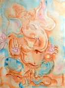 Sea Turtles Paintings - Ganesha by Sol Arts