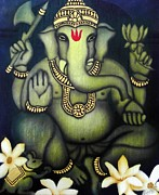 Vinayaka Paintings - Ganesha by Vishwajyoti Mohrhoff