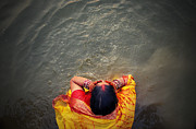 Ganges Bath Print by Money Sharma