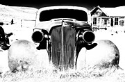 Ghost Framed Prints - Gangster Car Framed Print by Cat Connor