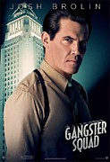Motion Picture Poster Framed Prints - Gangster Squad Brolin Framed Print by Movie Poster Prints