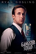 Film Print Framed Prints - Gangster Squad Gosling Framed Print by Movie Poster Prints