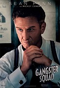 Motion Picture Poster Framed Prints - Gangster Squad Penn Framed Print by Movie Poster Prints