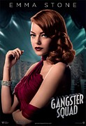 Motion Picture Poster Framed Prints - Gangster Squad  Stone Framed Print by Movie Poster Prints