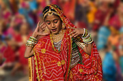 Festivals Of India Photos - Gangur Fesitval Dancer - Udaipur India by Craig Lovell